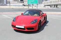 Porsche Boxter красный