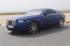 Rolls-Royce Wraith синий
