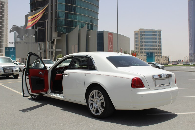 Rent Rolls Royce Ghost white in Dubai