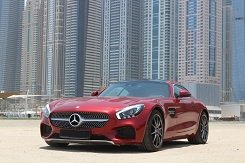MERCEDES Benz GTS AMG red