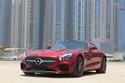 Mercedes-Benz GTS AMG красный