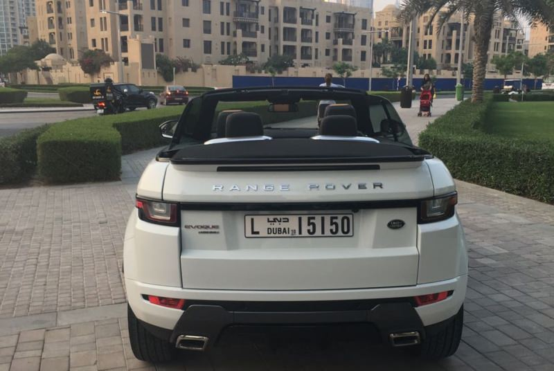 Range Rover Evogue Convertible white