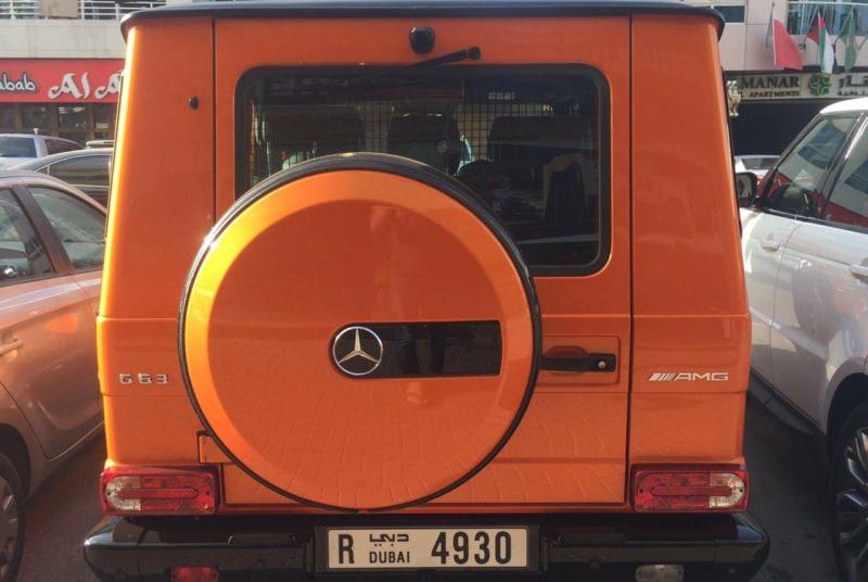 MERCEDES BENZ G63 AMG Orange