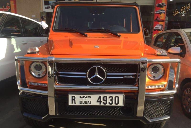 Mercedes-Benz G63 AMG оранжевый