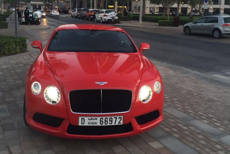 Аренда Bentley GT в Дубае