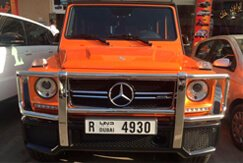 MERCEDES BENZ G63 AMG Orange