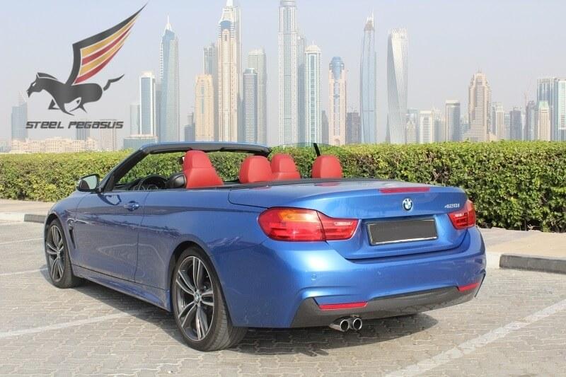 BMW 428i Cabriolet синий