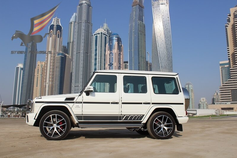 Rent MERCEDES BENZ G63 AMG White in Dubai
