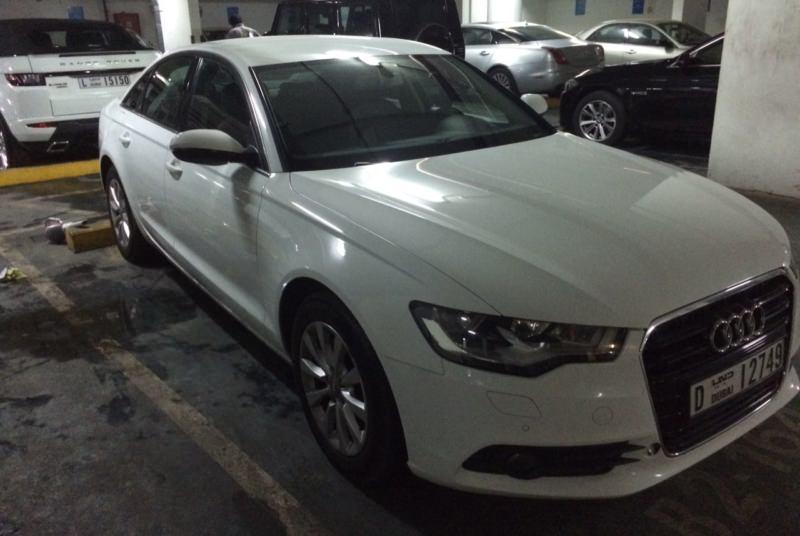 AUDI A6 white