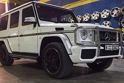 Rent MERCEDES BENZ G63 AMG White in Dubai