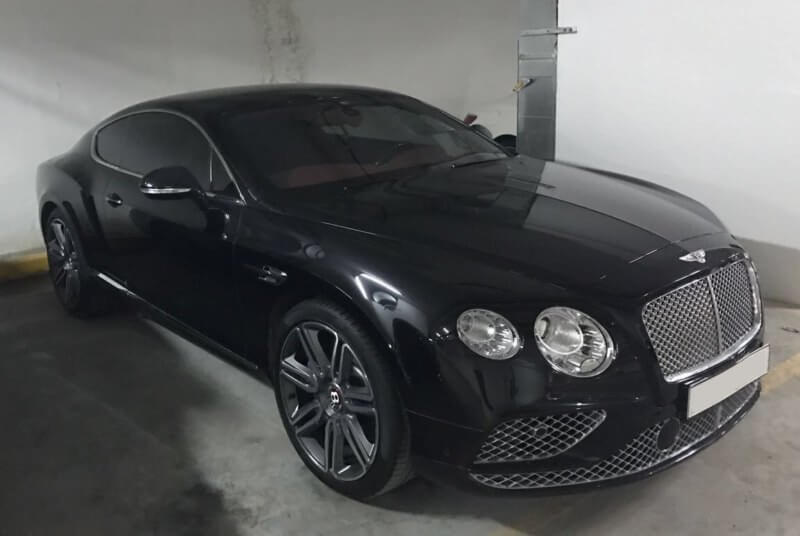 Rent Bentley GT Black in Dubai