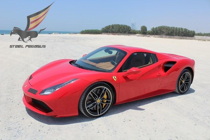 Ferrari 488 Spider красная