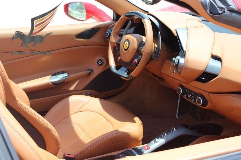 Rent Ferrari 488 Spider red in Dubai