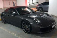 Porsche 911 Carrera Cabriolet серый