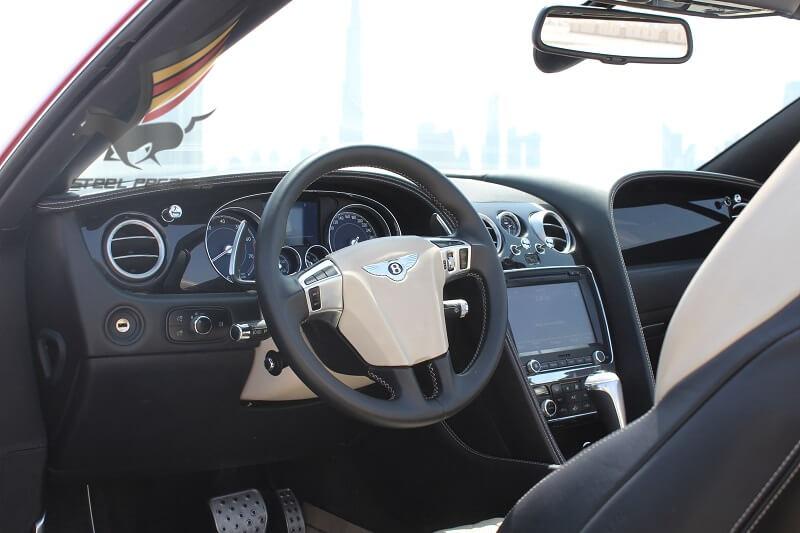 Rent BENTLEY GTc red Convertible in Dubai