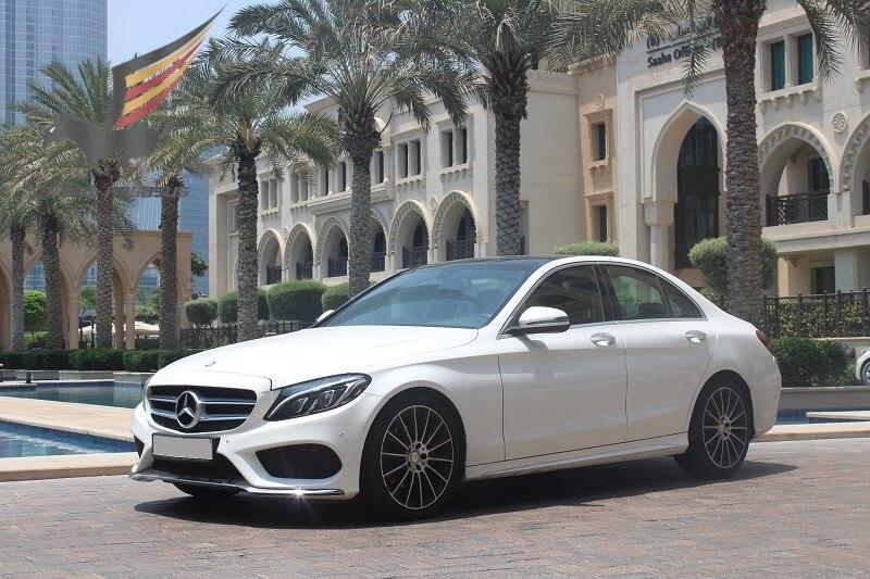 Mercedes C200 white