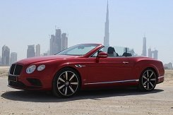Rent BENTLEY GTc red Convertible in Dubai
