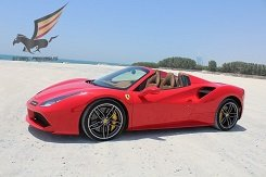 Rent Ferrari 488 Spider red in Dubai
