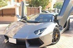 Lamborghini Aventador серый