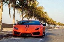 Lamborghini Huracan оранжевый
