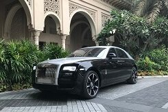 Rent Rolls Royce Ghost Black-Grey in Dubai