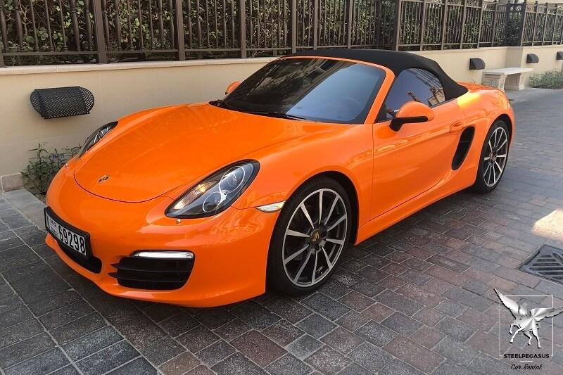 Porsche Boxter Оранжевый