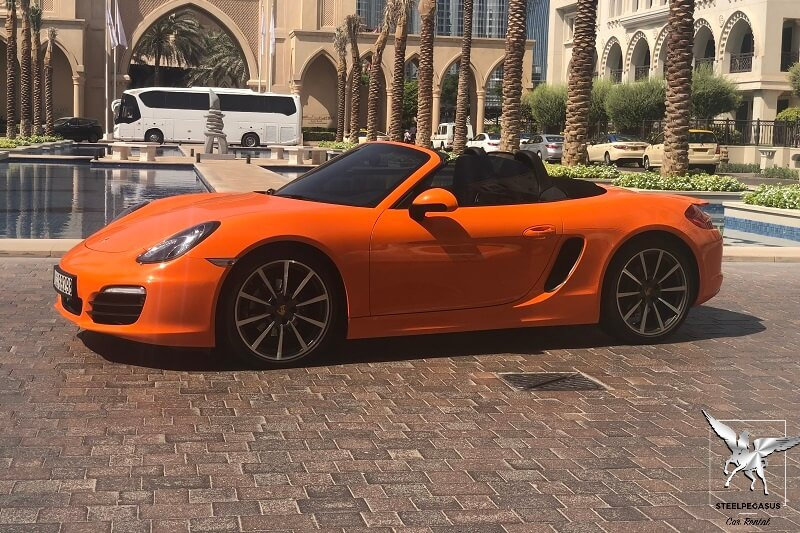 PORSCHE BOXTER Orange