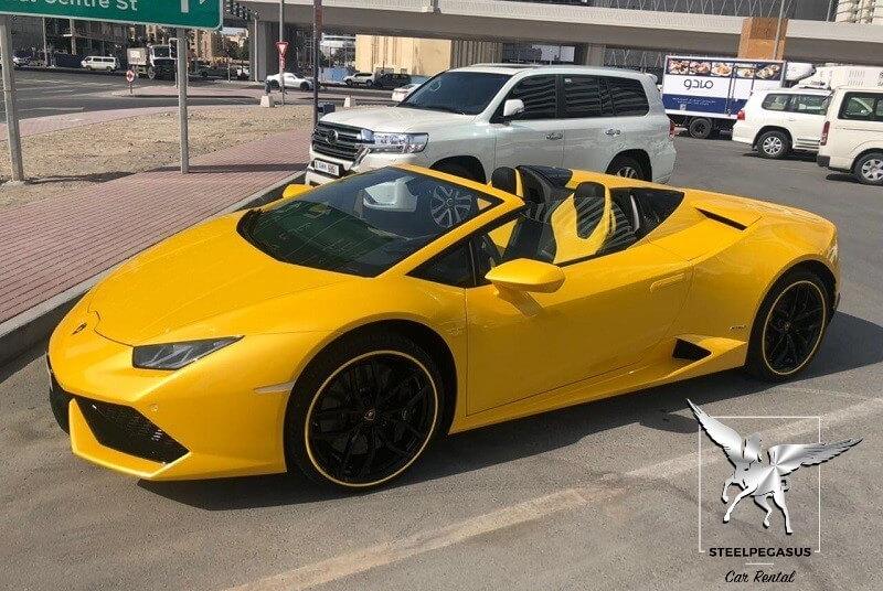 Lamborghini Huracan spider Yellow