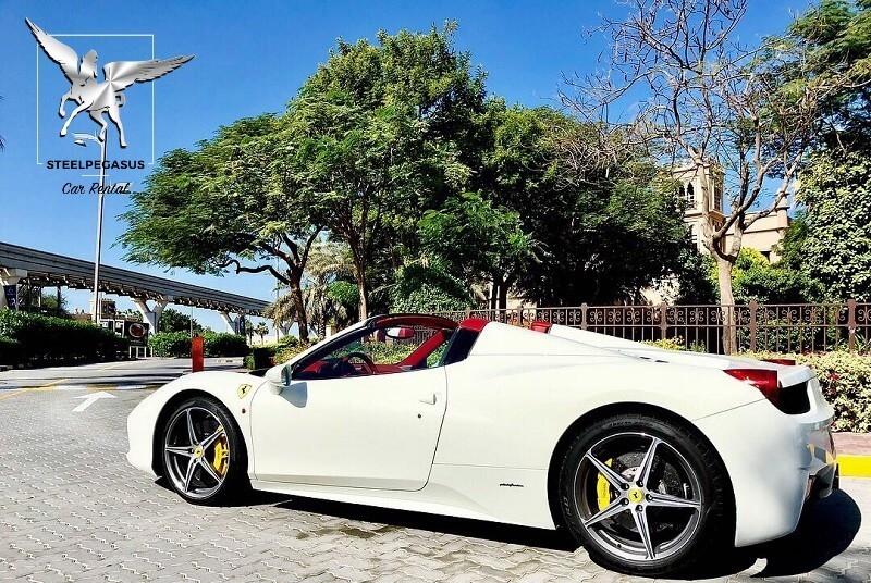 Ferrari 458 Spider white
