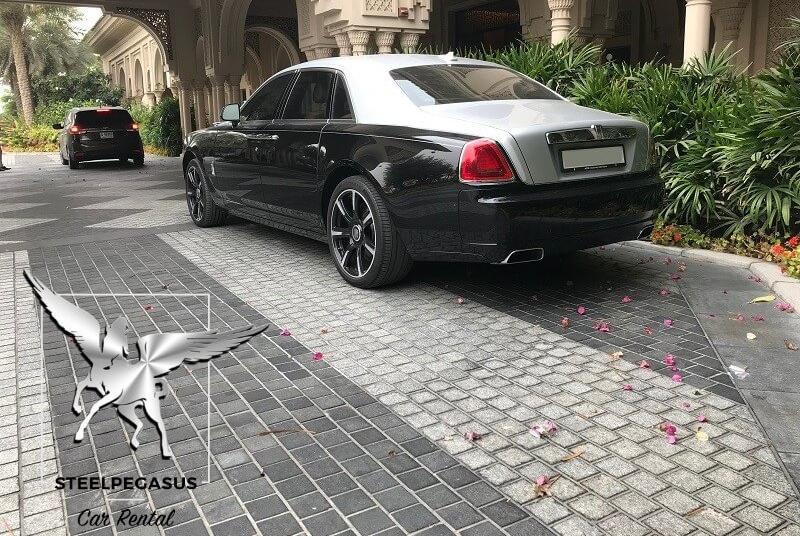 Rent Rolls Royce Ghost Black-Grey in Dubai